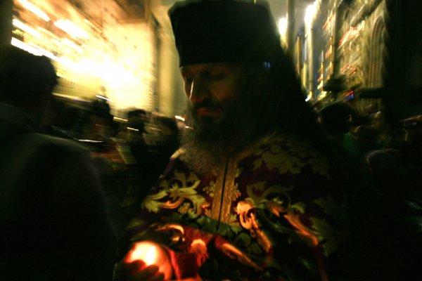 Pâques orthodoxe,Saint sépulcre  Jérusalem 2013